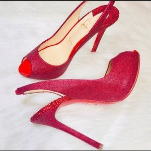 Authentic Christian Louboutin Peep Toe Heels